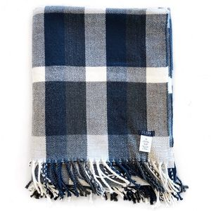 [J.Crew] Factory Plaid Throw Blanket Scarf